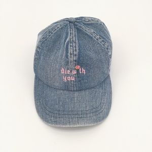 Die With You Vintage Wash Embroidered Hat